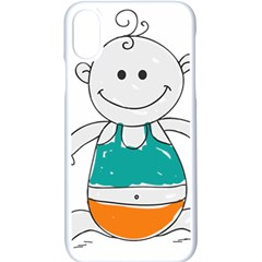Baby Cute Child Birth Happy Iphone Xs Seamless Case (white)