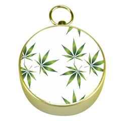 Cannabis Curative Cut Out Drug Gold Compasses by Jojostore