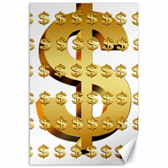Dollar Money Gold Finance Sign Canvas 24  X 36