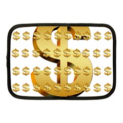 Dollar Money Gold Finance Sign Netbook Case (medium) by Mariart