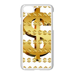 Dollar Money Gold Finance Sign Iphone 8 Seamless Case (white)