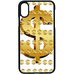 Dollar Money Gold Finance Sign Iphone X Seamless Case (black)