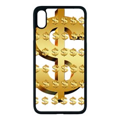 Dollar Money Gold Finance Sign Iphone Xs Max Seamless Case (black)