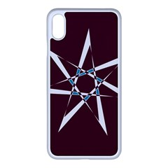 Star Sky Design Decor Red Iphone Xs Max Seamless Case (white)