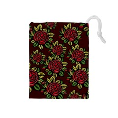 Seamless Tile Background Abstract Drawstring Pouch (medium)
