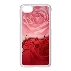 Elegant Floral Design, Wonderful Roses Iphone 7 Seamless Case (white) by FantasyWorld7