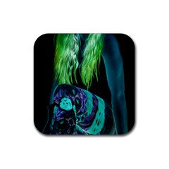 Digital Art Woman Body Part Photo Rubber Coaster (square)  by dflcprintsclothing