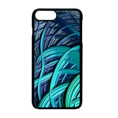 Oceanic Fractal Turquoise Blue Iphone 8 Plus Seamless Case (black)