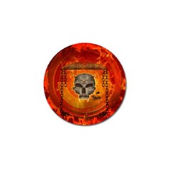 Awesome Skull With Celtic Knot With Fire On The Background Golf Ball Marker (10 Pack) by FantasyWorld7