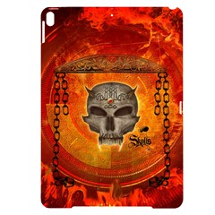 Awesome Skull With Celtic Knot With Fire On The Background Apple Ipad Pro 10 5   Black Frosting Case