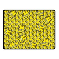 Gilet Jaune Pattern Yellowvests Cowcow Gilet Jaune Pattern Funny Yellow Vests Fleece Blanket (small) by snek