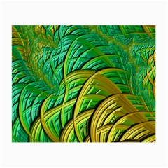 Patterns Green Yellow String Small Glasses Cloth (2-side) by Alisyart