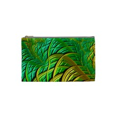 Patterns Green Yellow String Cosmetic Bag (small)
