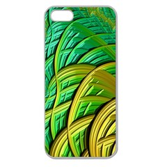 Patterns Green Yellow String Apple Seamless Iphone 5 Case (clear)