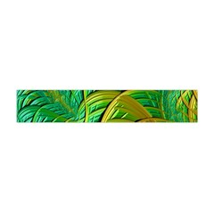 Patterns Green Yellow String Flano Scarf (mini)