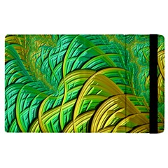 Patterns Green Yellow String Apple Ipad Mini 4 Flip Case