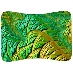 Patterns Green Yellow String Velour Seat Head Rest Cushion by Alisyart