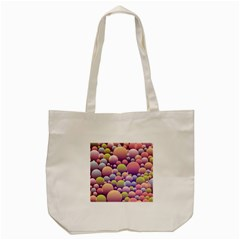 Abstract Background Circle Bubbles Tote Bag (cream)