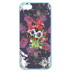 Vintage Flowers Pattern Apple Seamless Iphone 5 Case (color) by goljakoff