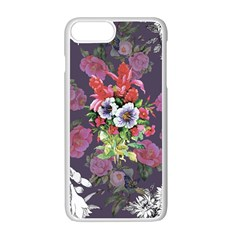 Vintage Flowers Pattern Iphone 7 Plus Seamless Case (white) by goljakoff