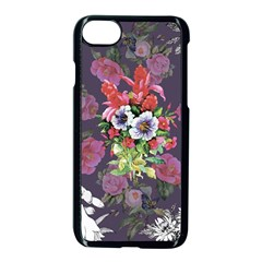 Vintage Flowers Pattern Iphone 8 Seamless Case (black) by goljakoff