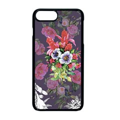 Vintage Flowers Pattern Iphone 8 Plus Seamless Case (black) by goljakoff
