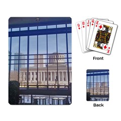 Ohio Statehouse Playing Cards Single Design by Riverwoman
