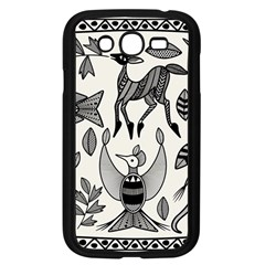 African Senufo Korhogo Tribal Ethnic Art  Samsung Galaxy Grand Duos I9082 Case (black) by BluedarkArt