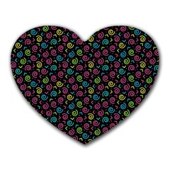 80s 90s Pattern 7 Heart Mousepads by tarastyle