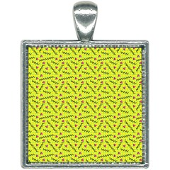 80s 90s Pattern 8 Square Necklace