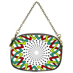 Round Star Colors Illusion Mandala Chain Purse (one Side) by Mariart