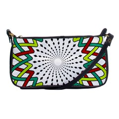 Round Star Colors Illusion Mandala Shoulder Clutch Bag by Mariart
