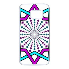 Star Illusion Form Shape Mandala Samsung Galaxy S7 White Seamless Case by Alisyart