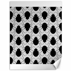 Pattern Beetle Insect Black Grey Canvas 36  X 48