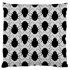 Pattern Beetle Insect Black Grey Standard Flano Cushion Case (one Side)