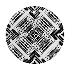 Pattern Tile Repeating Geometric Ornament (round)