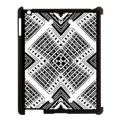 Pattern Tile Repeating Geometric Apple Ipad 3/4 Case (black)