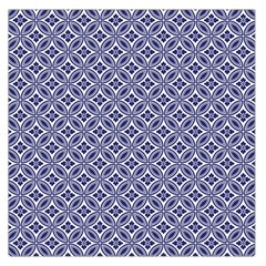 Wreath Differences Indigo Deep Blue Large Satin Scarf (square)