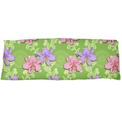 Lily Flowers Green Plant Natural Body Pillow Case (dakimakura)