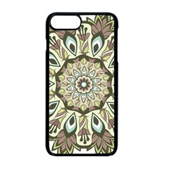 Mandala Pattern Round Floral Iphone 7 Plus Seamless Case (black)