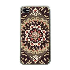 Seamless Pattern Floral Flower Iphone 4 Case (clear) by Pakrebo
