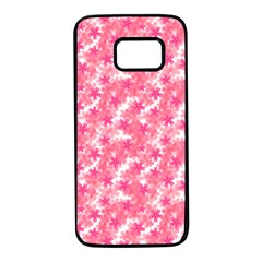 Phlox Spring April May Pink Samsung Galaxy S7 Black Seamless Case