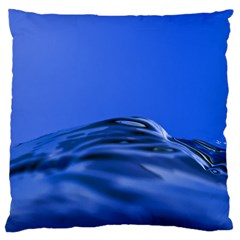 Wave Macro Water Surface Large Cushion Case (two Sides)