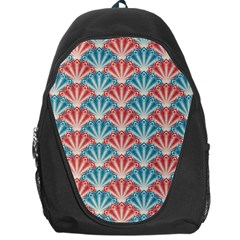 Seamless Patter Peacock Feathers Backpack Bag by Pakrebo