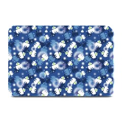 White Flowers Summer Plant Plate Mats
