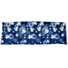 White Flowers Summer Plant Body Pillow Case (dakimakura) by Pakrebo