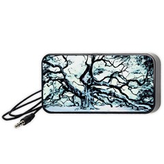 Tree Winter Blue Snow Cold Scene Portable Speaker