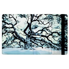 Tree Winter Blue Snow Cold Scene Apple Ipad 2 Flip Case by Pakrebo