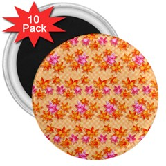 Maple Leaf Autumnal Leaves Autumn 3  Magnets (10 Pack)