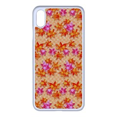 Maple Leaf Autumnal Leaves Autumn Iphone Xs Max Seamless Case (white)